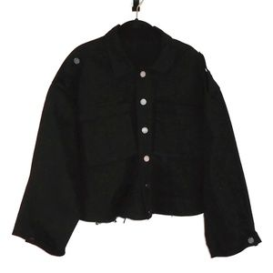 BlankNYC Jacket Military Cut Off Style Coat Small